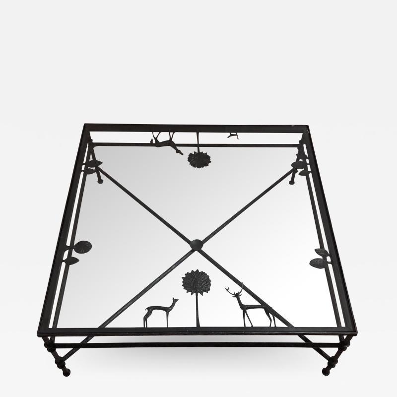 Carole Gratale Design Giacometti inspired elements table in cast bronze