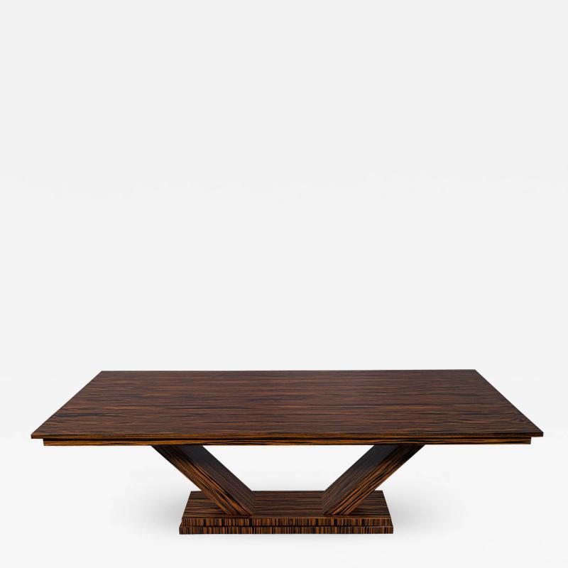 Carrocel Interiors Custom Modern Macassar Dining Table by Carrocel