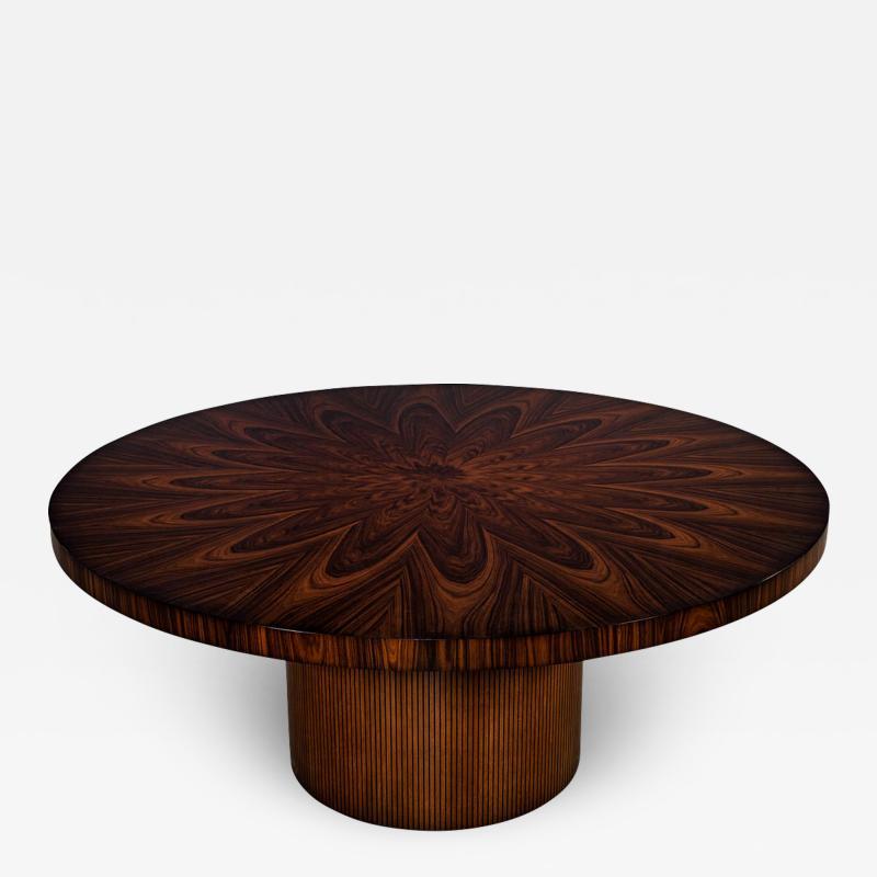 Carrocel Interiors Custom Sunburst Modern Round Dining Table
