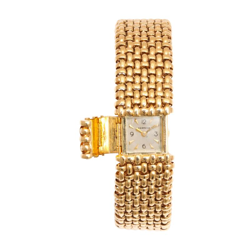 Cartier 18k Woven Gold Watch Bracelet by Cartier