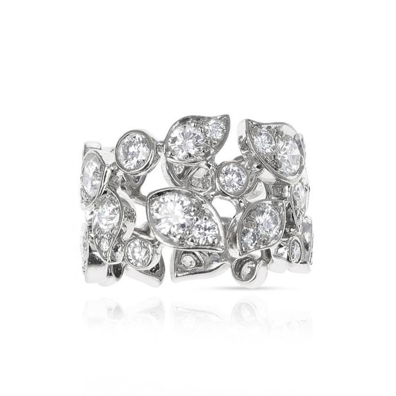 Cartier CARTIER 5 CARAT DIAMOND LEAF RING 18K WHITE GOLD