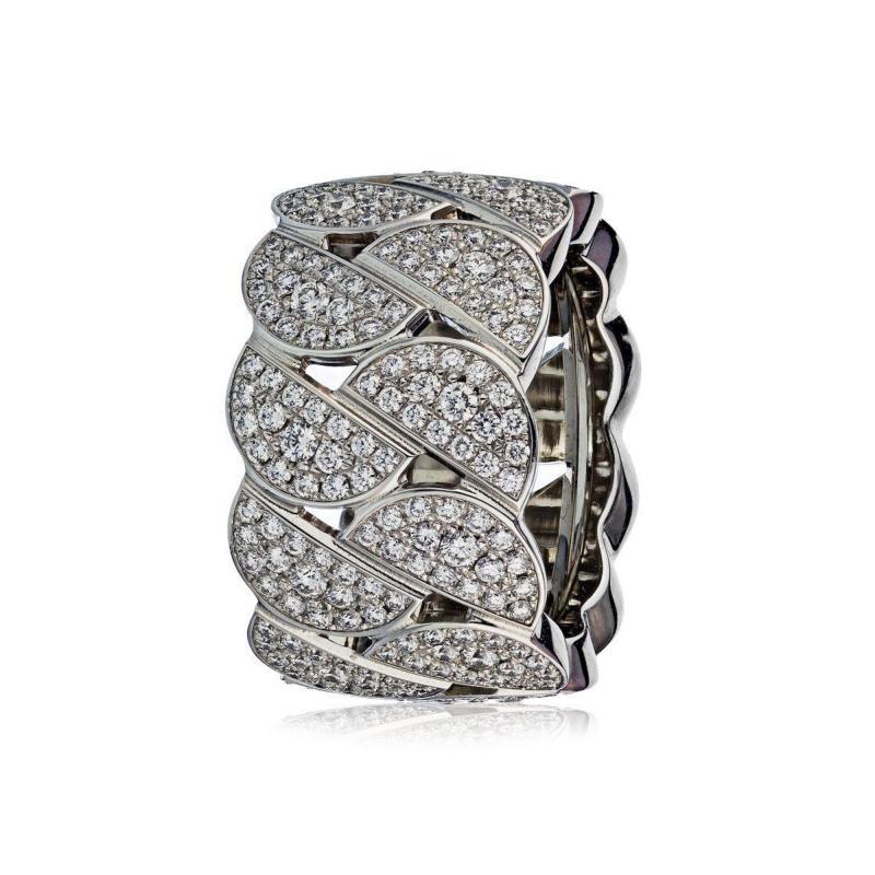 Cartier CARTIER LA DONA 18K WHITE GOLD PAVE DIAMOND RING