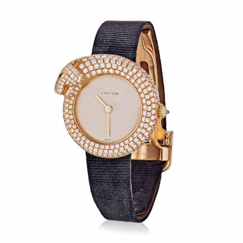 Cartier CARTIER PANTHERE 18K YELLOW GOLD DIAMOND PANTHER 2309 LADIES WATCH
