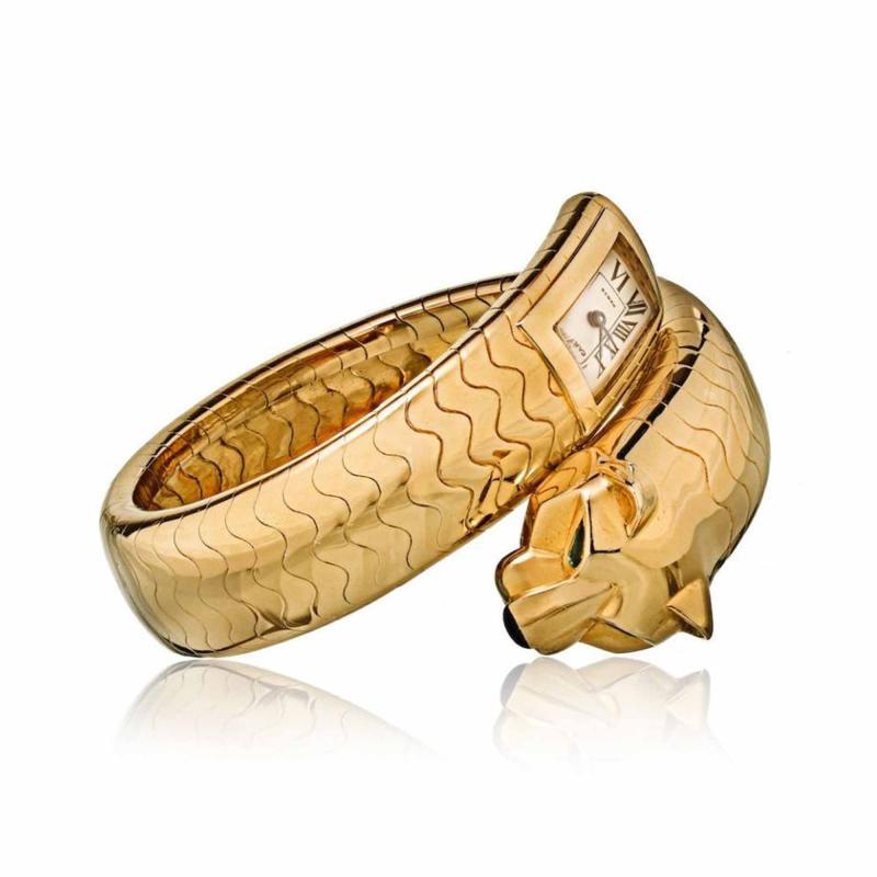 Cartier CARTIER PANTHERE 18K YELLOW GOLD WRAP AROUND VINTAGE LAKARDA WATCH