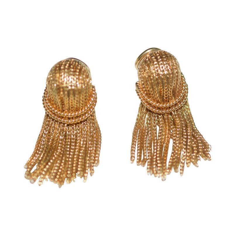 Cartier Cartier 18 K Gold Chain Clip on Earrings