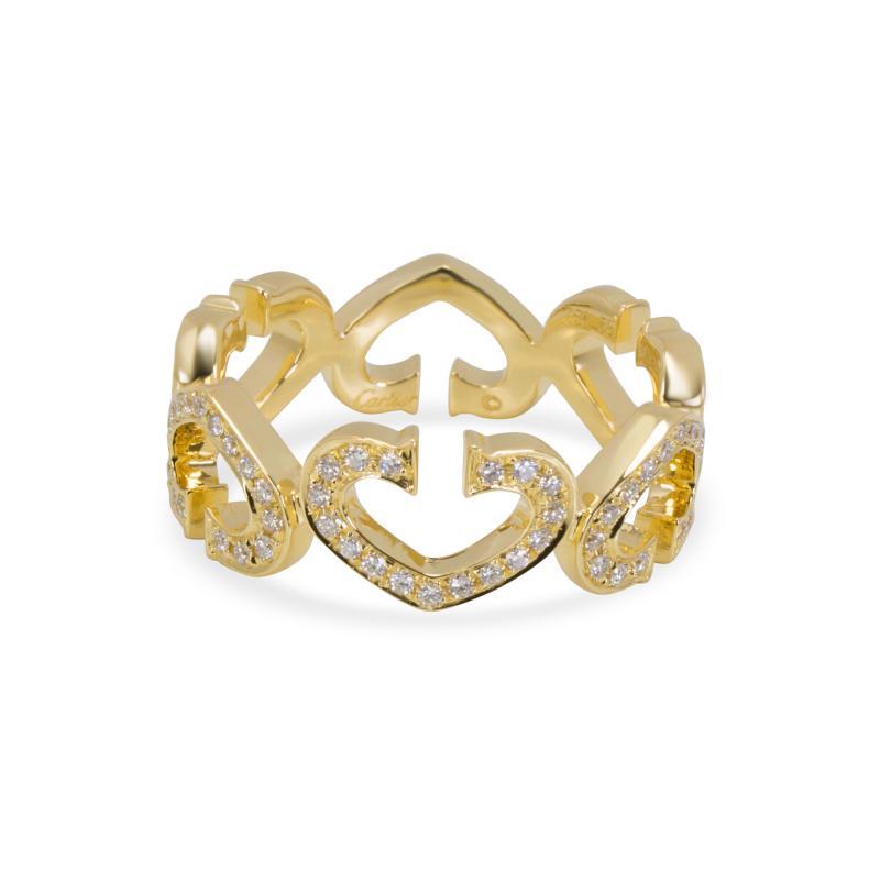 Cartier Cartier C Hearts of Cartier Diamond Ring in 18K Yellow Gold 0 50 CTW