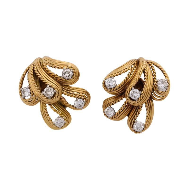 Cartier Cartier Diamond 18k Gold Earrings