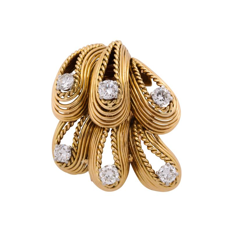 Cartier Cartier Diamond Brooch in 18k Gold