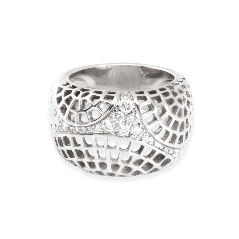 Cartier Cartier Diamond Dome Ring in 18K White Gold 0 45 CTW