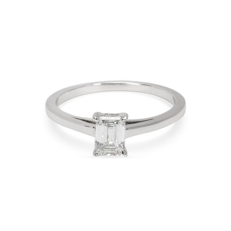 Cartier Cartier Emerald Cut Engagement Ring in Platinum 0 55 CTW
