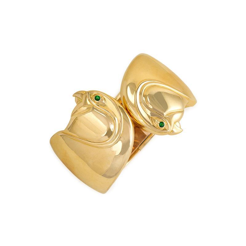Cartier Cartier Gold Double Birds Head Cuff Bracelet