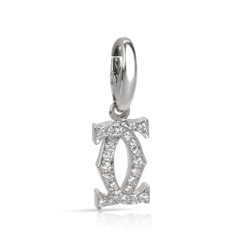 Cartier Cartier Interlocking C Diamond Pendant in 18K White Gold 0 20 CTW