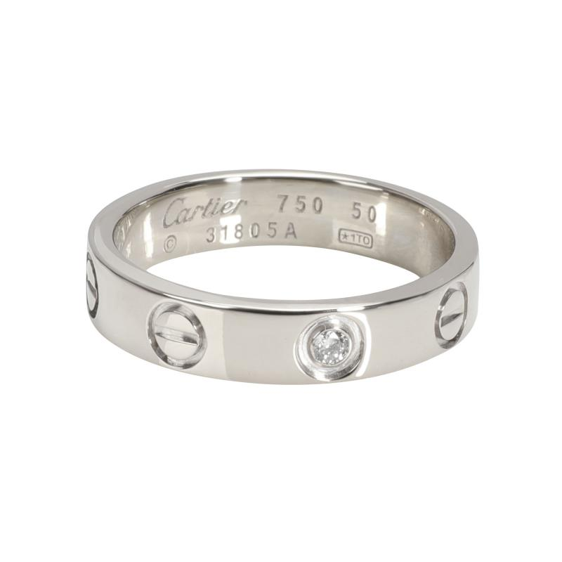 Cartier Cartier LOVE Diamond Ring in 18K White Gold 0 02 CTW