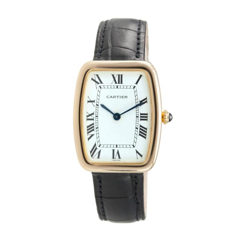 Cartier Cartier Large Square Incurvee 18k Gold Wristwatch Circa 1980s