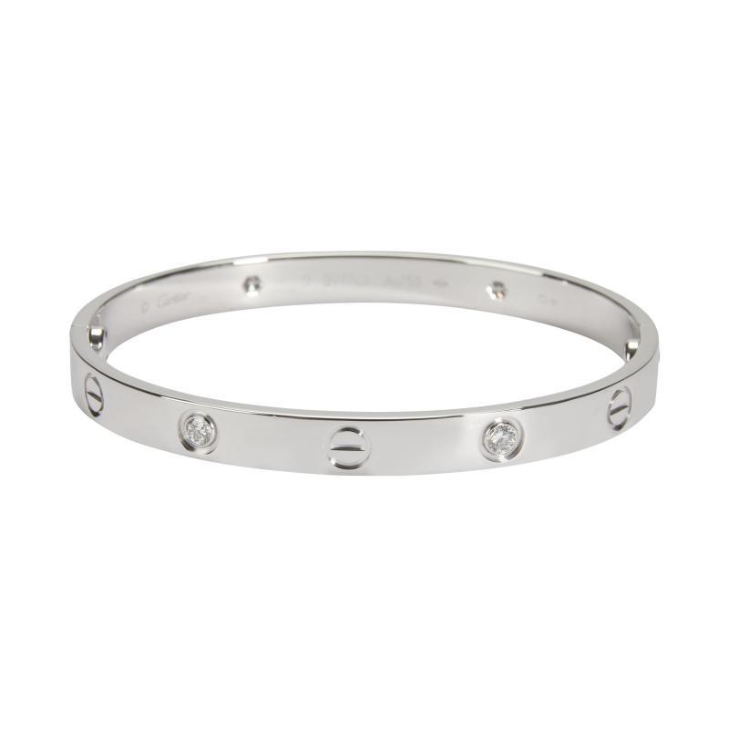 Cartier Cartier Love Bracelet with Diamonds in 18K White Gold 0 42 CTW