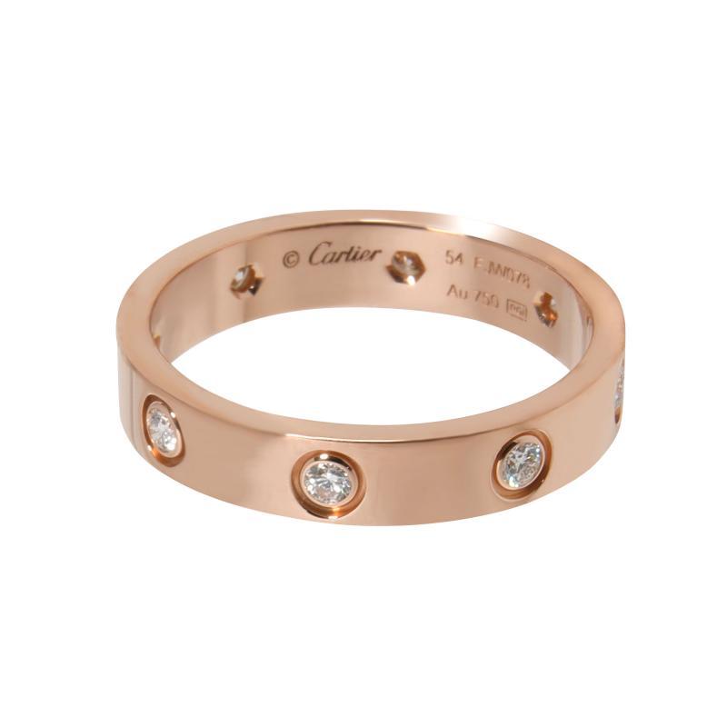 Cartier Cartier Love Diamond Band in 18K Pink Gold 0 19 CTW