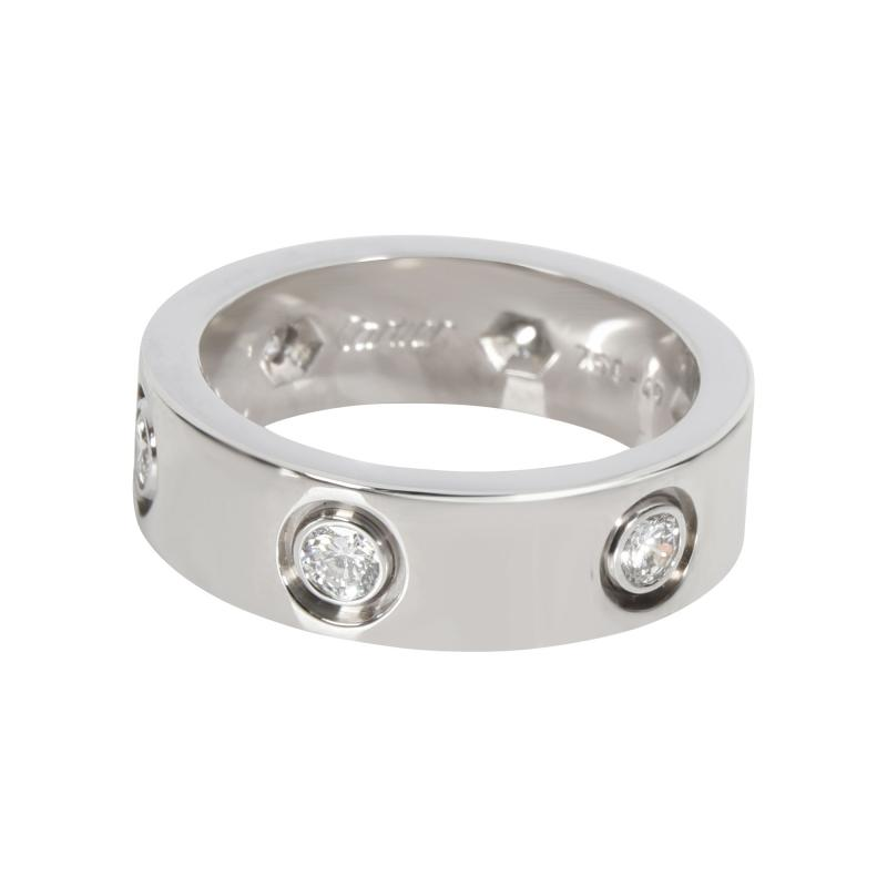 Cartier Cartier Love Diamond Band in 18K White Gold 0 46 CTW