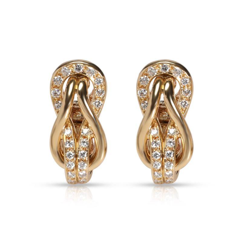 Cartier Cartier Love Knot Diamond Earrings in 18K Yellow Gold 0 42 CTW