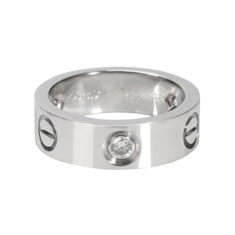 Cartier Cartier Love Ring with Diamonds in 18K White Gold 0 22 CTW