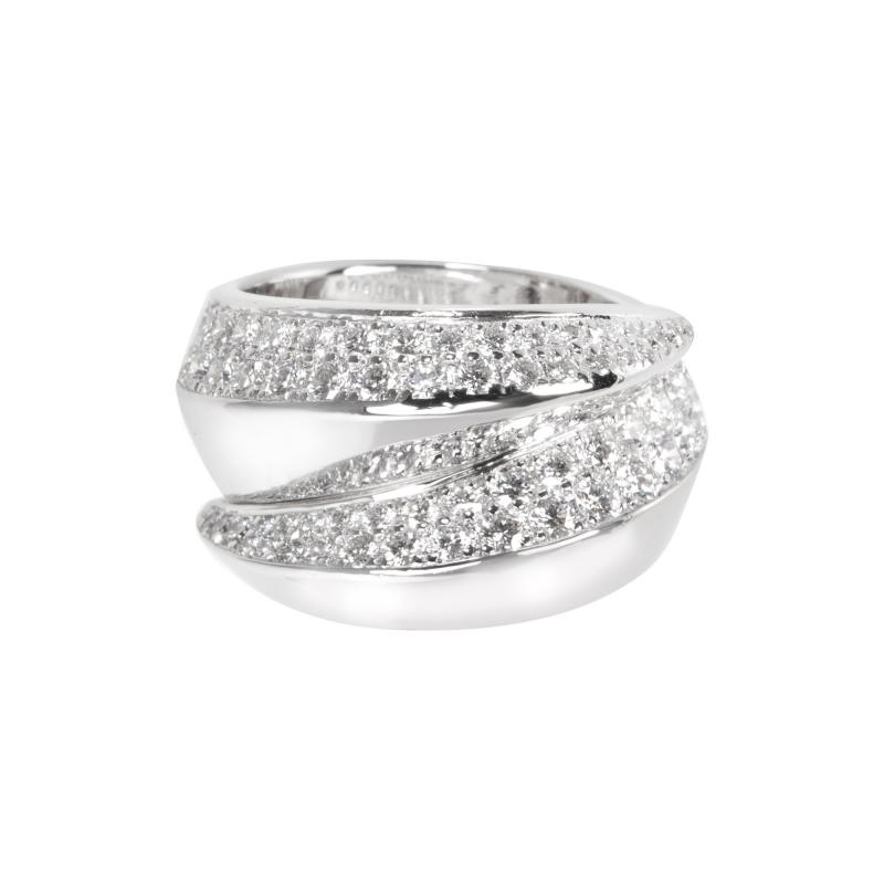 Cartier Cartier Panthere Griffe Ring in 18KT White Gold 1 70 ctw