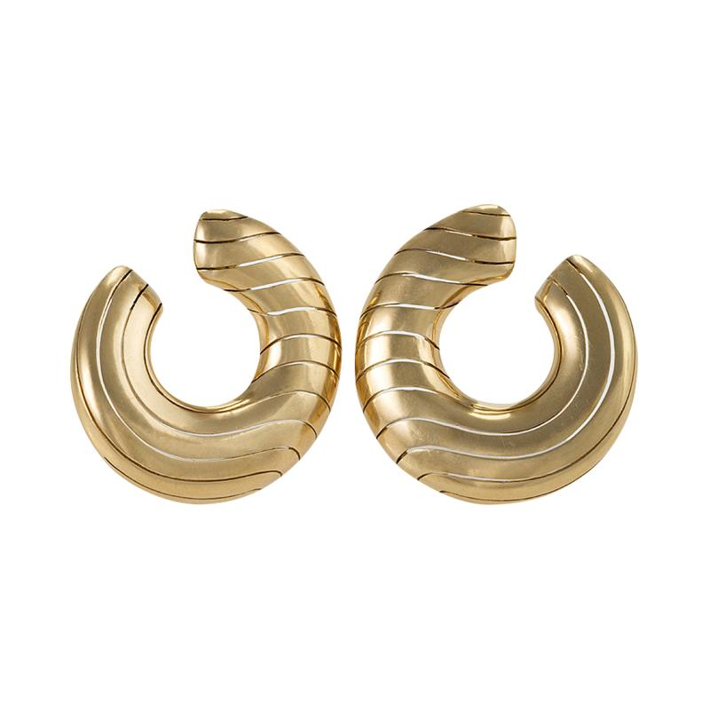 Cartier Cartier Paris Late 20th Century Gold Hoop Earrings