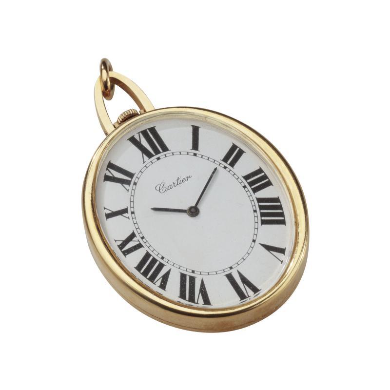 Cartier Cartier Pendant Pocket Watch 18kt large Oval