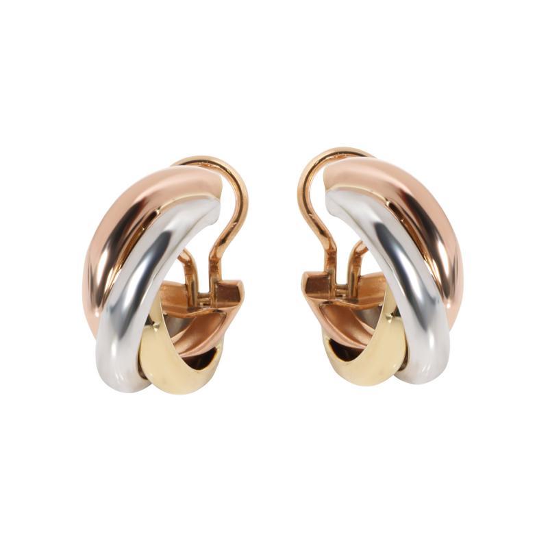 Cartier Cartier Trinity Hoop Earring in 18K 3 Tone Gold