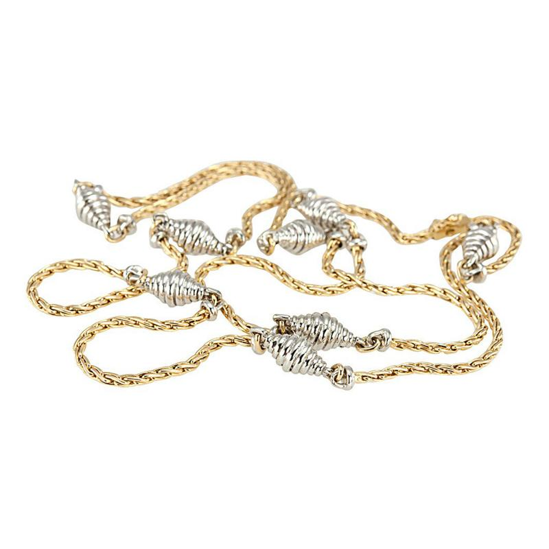 Cartier Cartier Yellow and White Gold Chain Necklace