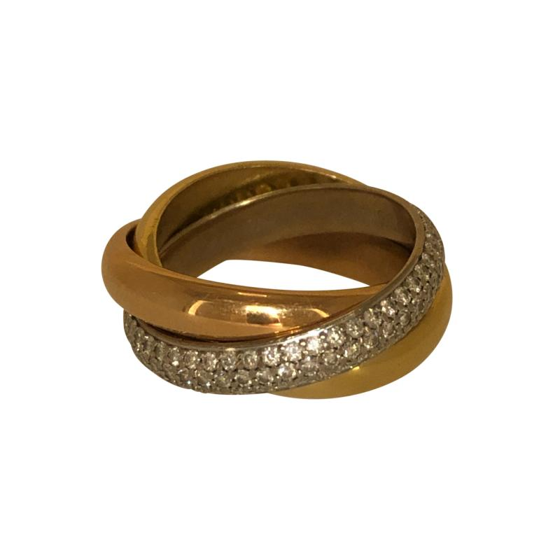 Cartier Cartier classic trinity ring with diamonds