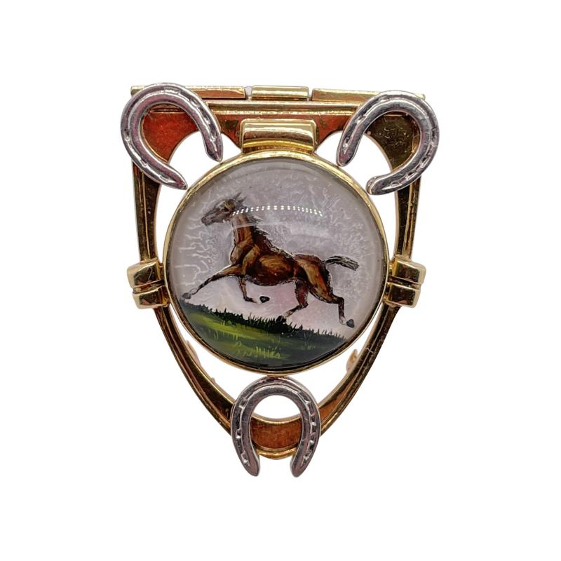 Cartier Cartier reverse painted crystal clip