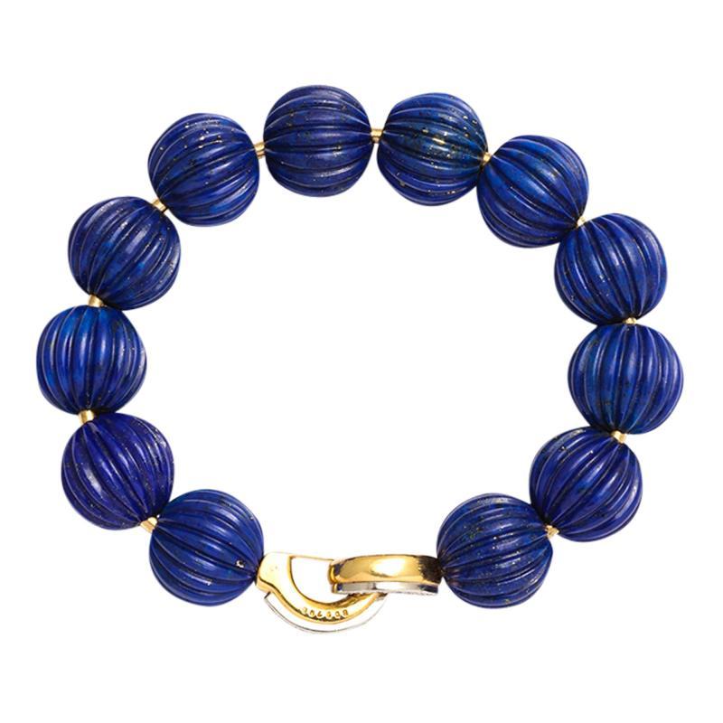 Cartier Lapis Bead Bracelet by Cartier Paris