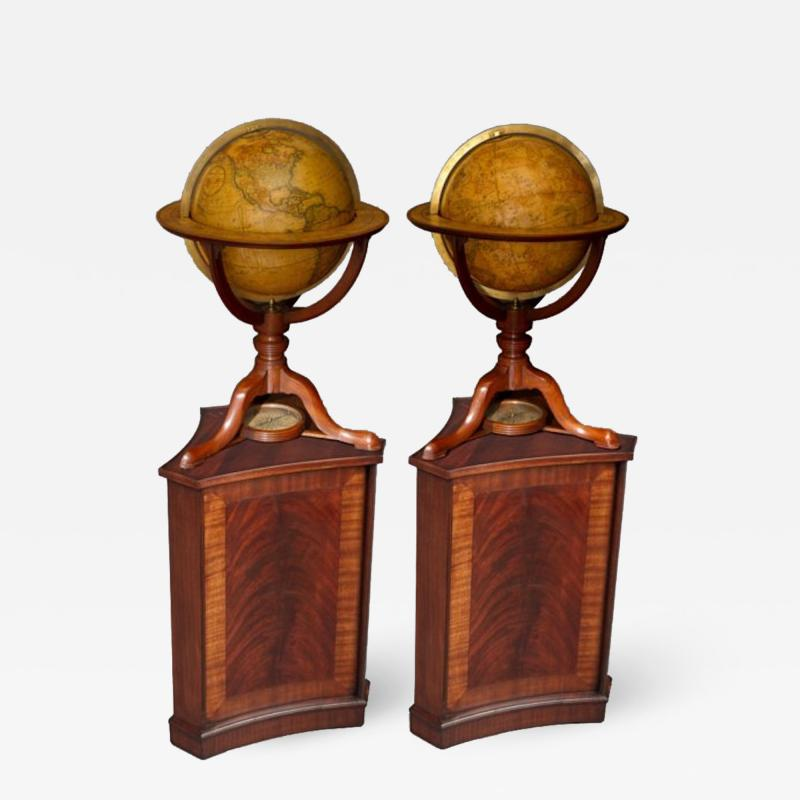 Cary s A Pair of George III 12 inch Terrestrial and Celestial Table Globes by Carys