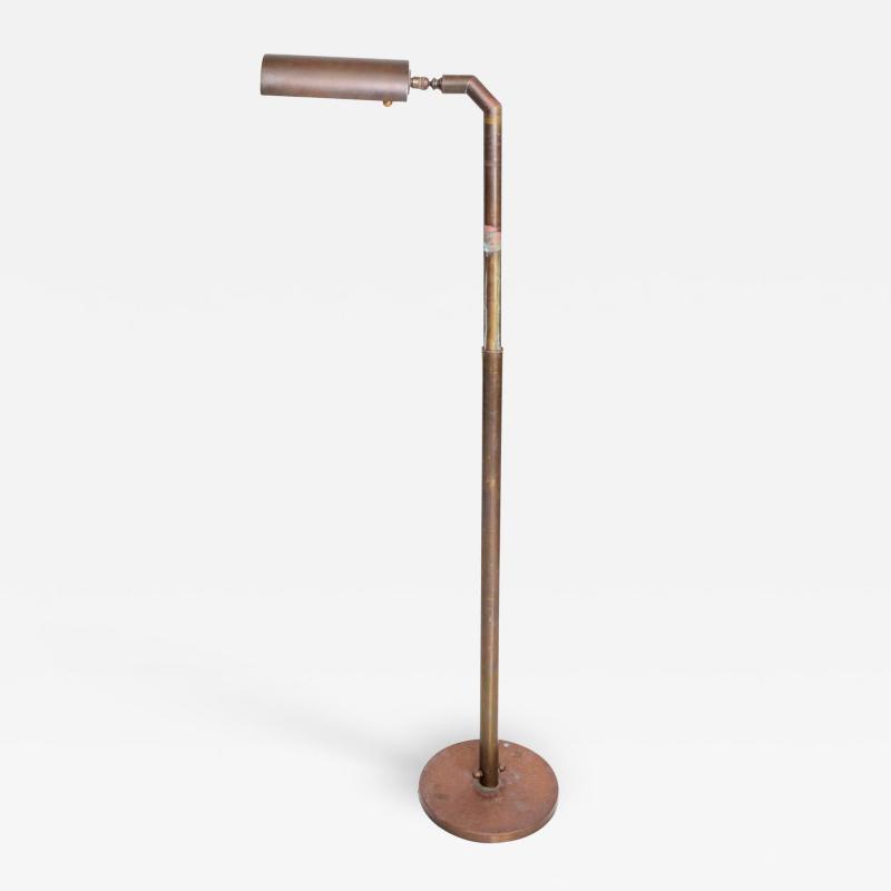 Casella Lighting Modern Industrial Brass Pharmacy Floor Lamp Style Casella 1970s