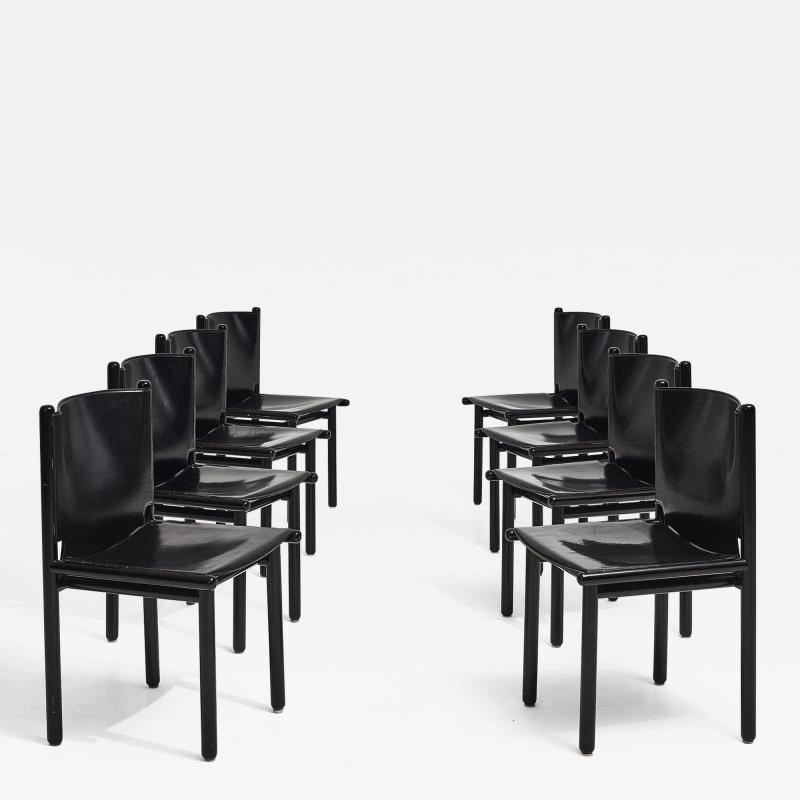 Cassina Caprile Dining Chairs by Gianfranco Frattini for Cassina circa 1980