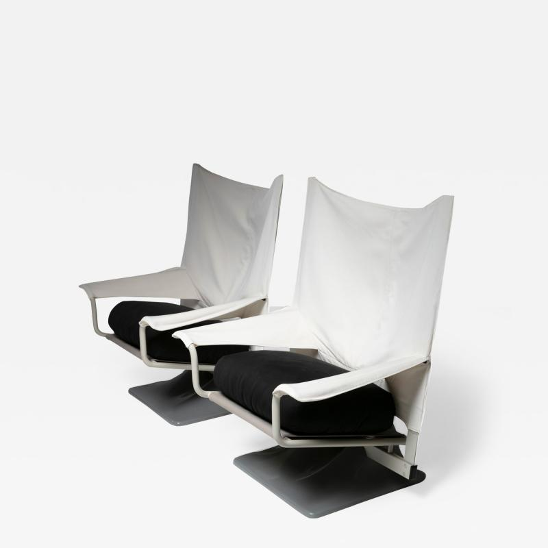 Cassina Pair of Aeo Lounge Chairs by Archizoom for Cassina