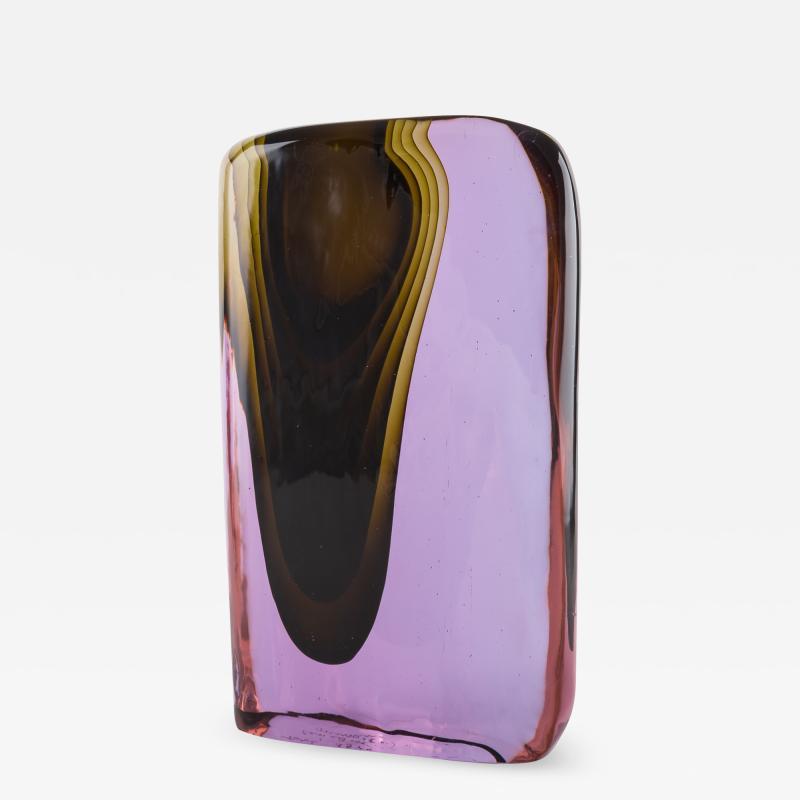 Cenedese Cenedese Murano blown by Tosi designed Antonio da Ros sculpture vase