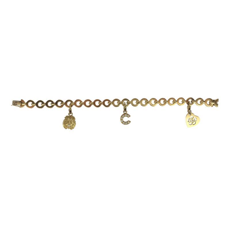 Chanel Chanel 18k Gold and Diamond Charm Bracelet