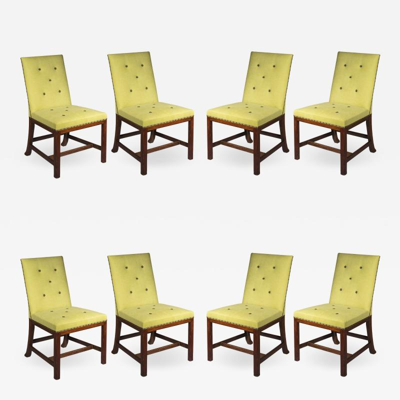 Chippendale Style Eight Scottish Chippendale Dining Chairs