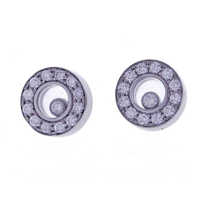 Chopard Chopard Happy Diamond Round Earring