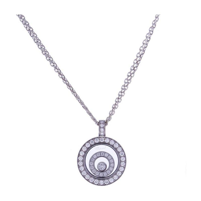Chopard Chopard Happy Spirit Diamond Double Circle Pendant Necklace