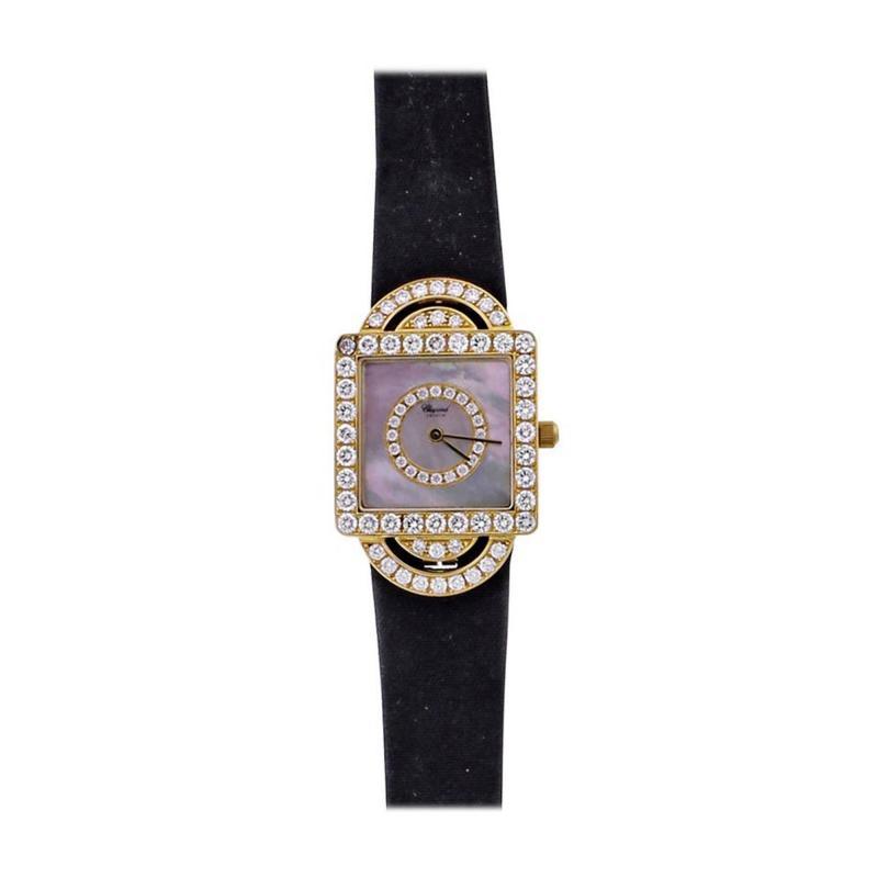 Chopard Chopard Ladies Yellow Gold Diamond Classique Quartz Wristwatch