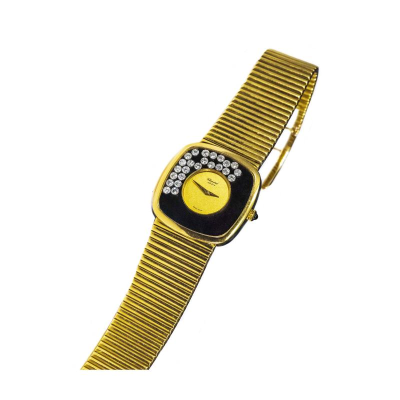 Chopard Special Order 1970s Chopard James Bond Happy Diamond 18kt Bracelet Wristwatch