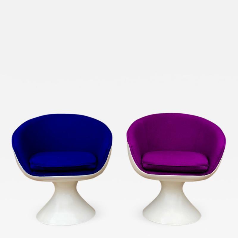 Chromcraft Chromcraft Fiberglass Swivel Chairs