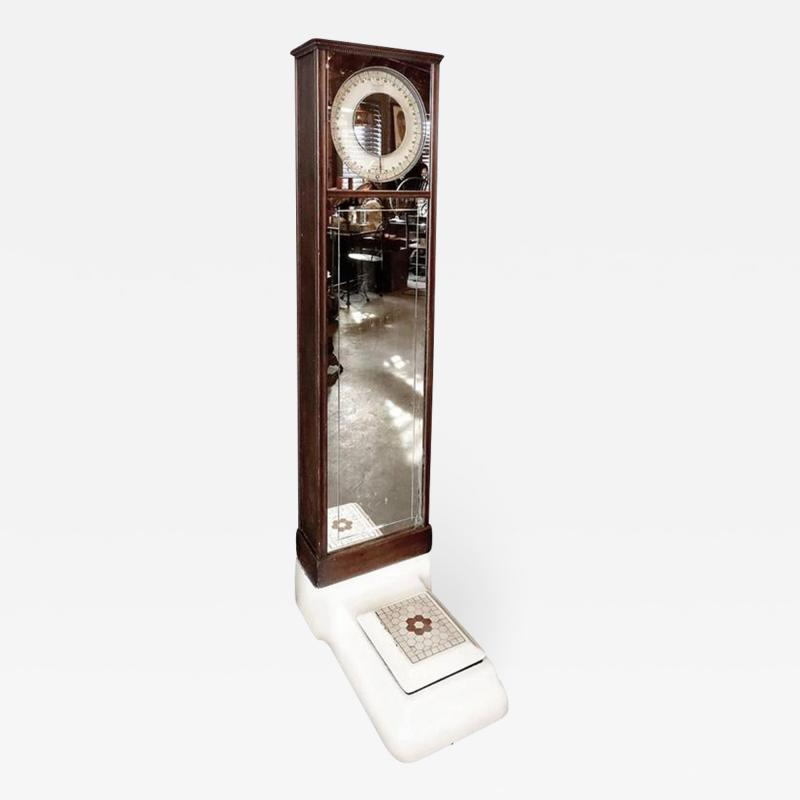 Columbia Weighing Machine Company Antique Columbia Penny Scale Coin Operated