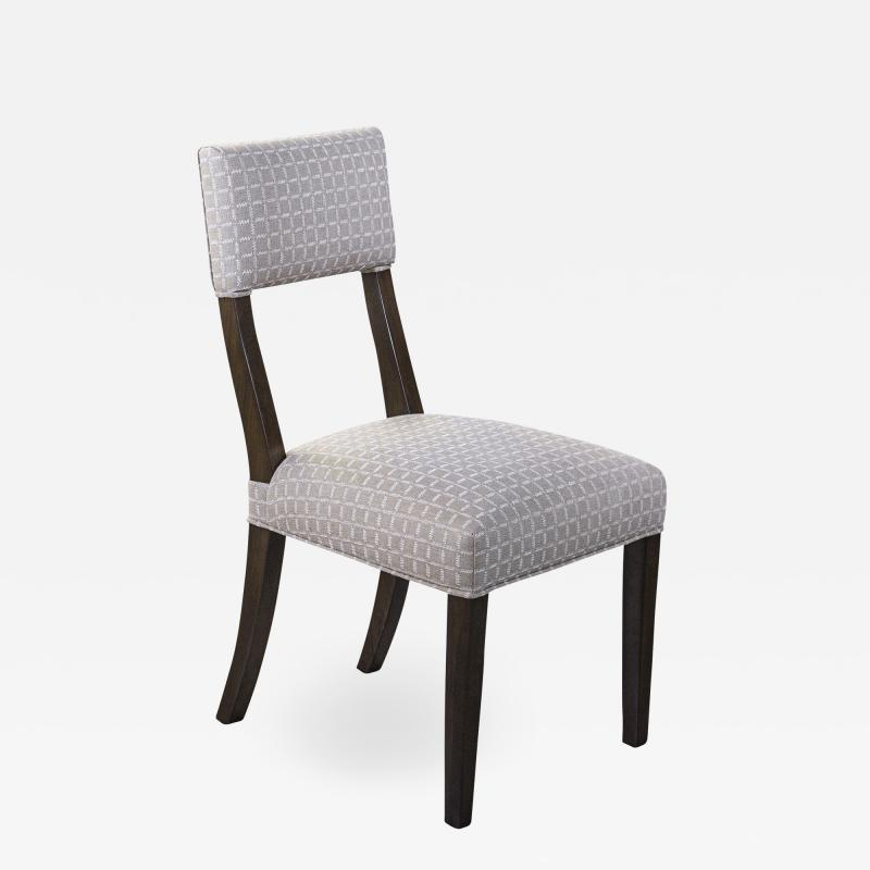 Constantini High Back Dining Chair in Argentine Rosewood and Fabric from Costantini Luca