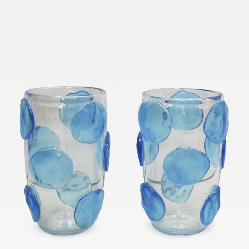 Constantini Pair of Mid Century Modern Costantini Murano Glass Italian Vases