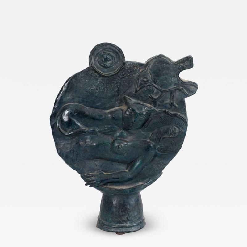 Corneille Belgium Solid Bronze Sculpture Signed Corneille and Numbered