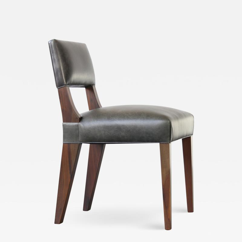 Costantini Design Bruno Low Side Chair in Argentine Rosewood and Leather from Costantini