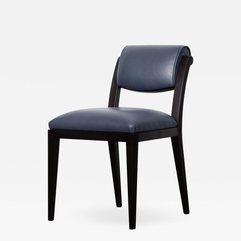Costantini Design Contemporary Art Deco Style Leather Dining Chair from Costantini Gianni