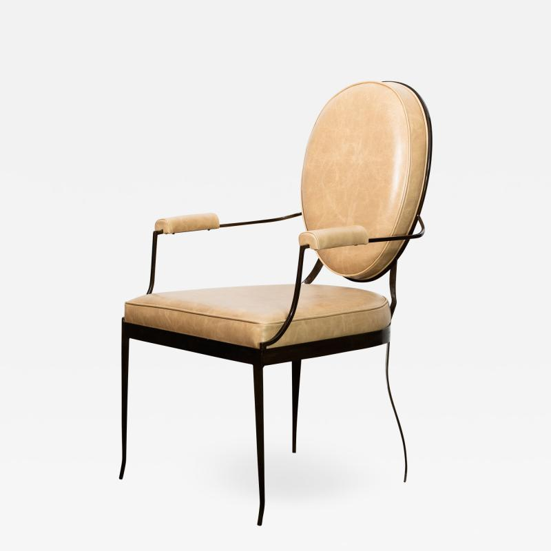 Costantini Design Contemporary Forged Iron and Upholstered Chair from Costantini Andre